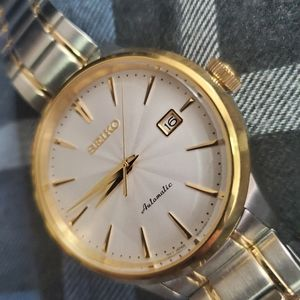 Seiko gold/silver automatic watch